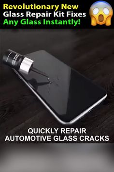 This DIY Glass Repair Kit Repairs Cracks Instantly! Never Pay For Windshield Or Phone Repairs Again! - This Glass Repair Kit will save you thousands on glass repair, it works on any virtually any glass, - Simple Life Hacks, Useful Life Hacks, Gadgets And Gizmos, Cool Gadgets, Cracked Phone Screen, Windshield Repair, Glass Repair, Diy Home Repair, Cool Inventions