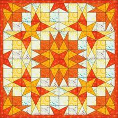 Big Block Quilts, Circle Quilts, Star Quilt Blocks, Star Quilts, Mini Quilts, Square Quilt, Patchwork Quilt Patterns, Modern Quilt Patterns, Storm At Sea Quilt