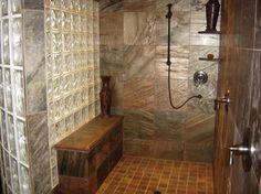 Glass Block Shower Design Ideas, fascinating tile and design