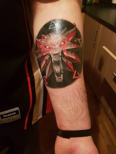 Got my new Witcher tattoo today hopefully it fits in here. #TheWitcher3 #PS4 #WILDHUNT #PS4share #games #gaming #TheWitcher #TheWitcher3WildHunt