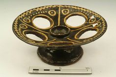 Slipware egg stand, probably north of England.C18th.- 19th.