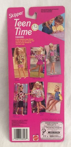 Skipper Teen Time My Diary New Barbie 1993 Mattel 68028 Outfit Barbie 90s, Barbie Skipper, Barbie World, Barbie Clothes, Girls Characters, The Martian, Booklet, Teen, Dolls