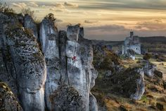 Typical jurassic scenery in Poland - a climber, castle ruins and bone white limestone. Image Categories, Armin, Climbers, Alps, Red Bull, Playground, Adventure Travel, Travel Photos, Mount Rushmore