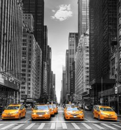 #wallpaper - N.Y. Cab - rebelwalls.com