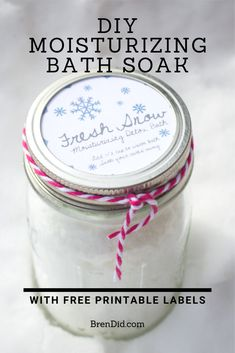 DIY Moisturizing Bath Salts for Gift Giving All-natural moisturizing detox bath. DIY Moisturizing Bath Salts for Gift Giving All-natural moisturizing detox bath soothes dry skin while you d