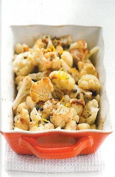 sounds SO good to me! Roasted cauliflower, anchovies, capers and garlic