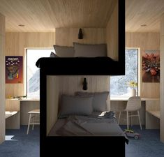 Sibling Bedroom by @vardehaugen_arkitekter #p_roduct • #product #design #productdesign #bedroom #siblings #interiordesign…