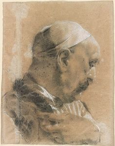 Giovanni Battista Piazzetta | Head of a Levantine | Drawings Online | The Morgan Library & Museum Classical Art, European Art, Portrait Drawing, Sketches, Venetian Art, Master Drawing, Drawing Heads, Art, Portrait