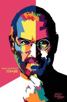 Steve Jobs In WPAP by Seto Buje