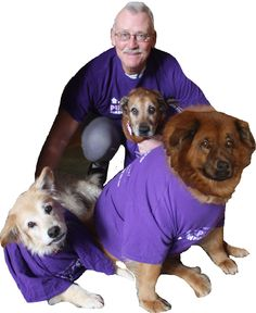 """Purple Spirit in honor of our loved ones for Valentine's Day! """"7 year survivor and Community Representative Ralph Cheney of Monticello, NY and his Pack Spread Purple Love.""""  Pancreatic Cancer Action Network - Know it. Fight it. End it!  www.pancan.org  www.facebook.com/JointheFight"""