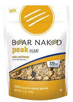 Bear Naked 100% Pure & Natural Granola, Peak Flax, Oats & Honey with Blueberries, 12 oz Pouches, 6 p - 6 pk. by Bear Naked, http://www.amazon.com/dp/B0082B4ADM/ref=cm_sw_r_pi_dp_h5qJrb0R39T3H