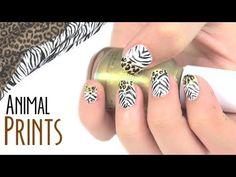 Diseño de uñas: estampado animal. Nail art: animal prints.