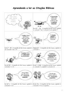 Catequizando Crianças: Aprendendo a ler as citações Bíblicas