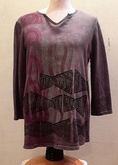 Tribal Journey Collection: French Terry Cotton Top
