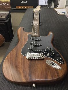 G&L Musical Instruments Comanche in Natural Frost over East Indian Walnut, black guard, Chechen board, Light Tint Satin neck finish. Guitar Kits, Guitar Shop, G&l Guitars, Acoustic Guitars, Guitar Exercises, Types Of Guitar, Guitar Tattoo, Guitar Building, Vintage Guitars