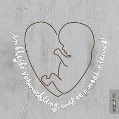 Verweven hart-kindje en tekst op hout 1