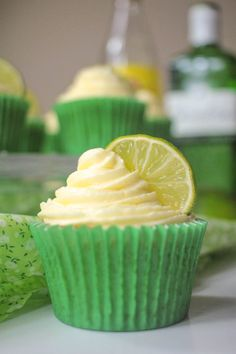 Gin and Tonic Cupcakes Recipe - Globe Scoffers | globescoffers.com