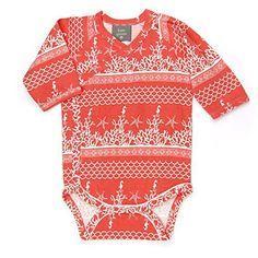 Kate Quinn Organics Unisex-baby Long Sleeve Kimono Bodysuit (0-3M, Coral Landscape) - http://goodvibeorganics.com/kate-quinn-organics-unisex-baby-long-sleeve-kimono-bodysuit-0-3m-coral-landscape/