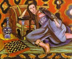 """Henri Matisse - """"Odalisque au fauteuil"""", dét. (1928) musée d'Art moderne de la Ville de Paris au Palais de Tokyo"""