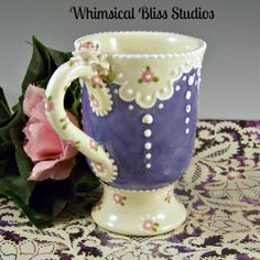 Whimsical Bliss Studios - Periwinkle & Lace Mug
