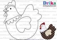 Hen and eggs crafting supplies, fretwork – Spring crafts – hen with eggs, easter DIY, wood easter chicken decor, easter crafts for teens … - Easter Crafts, Felt Crafts, Fabric Crafts, Sewing Crafts, Diy And Crafts, Sewing Projects, Applique Templates, Applique Patterns, Applique Quilts