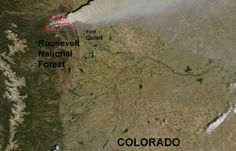 High Park Fire in Colorado As Seen From Space   SpaceRef