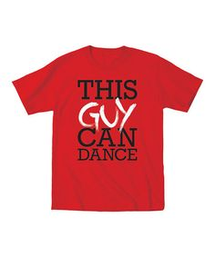 This Red 'This Guy Can Dance' Tee - Toddler & Boys by KidTeeZ is perfect! #zulilyfinds