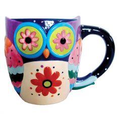 {Cozy Owl 12oz Mug} Lori Siebert - that is one groovy owl! :)