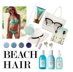 """Beach Hair"" by ameliekaced on Polyvore featuring Sachajuan, Victoria's Secret, Christian Dior, Janessa Leone, Kate Spade, Terre Mère, ArtDeco and beachhair"