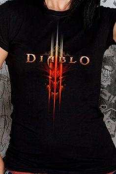 J!NX : Diablo III Face Women's Tee - Clothing Inspired by Video Games & Geek Culture