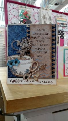 Love the colors used in this Heartfelt Creations coffee card