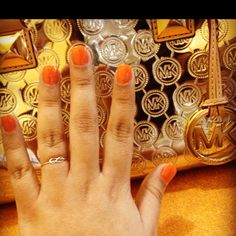 Nails; finally the orange I have been wanting :)