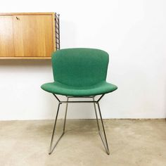 vintage 60s Knoll International Harry Bertoia von yourhomeplus vintage 60s Knoll International Harry Bertoia diamond wire chair with seatcover stuhl midcentury modern panton eames era