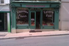 Vintage French Storefront in Nontron Store Fronts, French Vintage, Places, Lugares