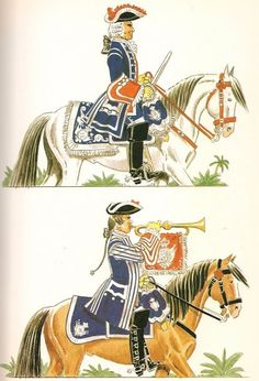 Compañía de Caballería de la Guardia del Real Palacio de Mexico 1760