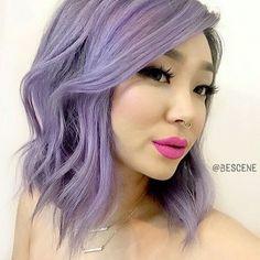 So lovely! New lilac hair by @bescene for @xtianaland. | #pravana #lilachair #purplehair