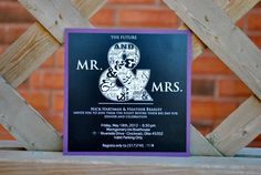 Mr & Mrs engagement invitation  classic black and by BlushNotes, $15.00