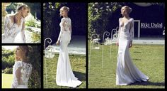 Wholesale Sheath Wedding Dresses - Buy Sexy V Neck 2015 Garden Wedding Dresses Court Train Sheath Long Sleeve Hollow White Chiffon Applique Exquisite Beach Low Price Bridal Gowns, $141.37 | DHgate
