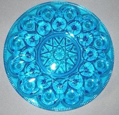 RARE Blue WEISHAAR? Signed Moon & Stars Deviled Egg Plate Signed