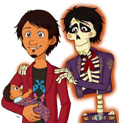 Hector meets Miguel Rivera's firstborn son named after him from Coco Disney Pixar Movies, Disney And Dreamworks, Disney Characters, Disney Princesses, Disney Addict, Cute Disney, Disney Pictures, Disney Animation, Great Movies