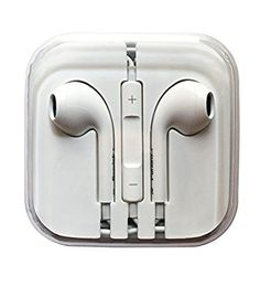 Wired Earphones with Microphone and Volume Control 3.5mm for Iphone 5/5s 6/6S (White)