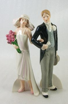 topper - Goebel 1920's Wedding Couple