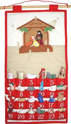 Nativity Advent Calendar - This is flipping adorable, I must get this for Christmas! What a great way to count down to Christmas! <3