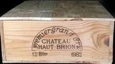 1982 Chateau Haut-Brion First Growth 12 bottle wine crate