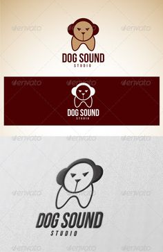 Logo Dog Sound Studio — Photoshop PSD #audio #company • Available here → https://graphicriver.net/item/logo-dog-sound-studio/2382916?ref=pxcr