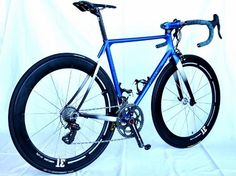 "The Delta Blues (作成: CHERUBIM) Racer ordered by a staff at ASSOS PRO SHOP TOKYO. Elegant aero road racer with Matt Blue Metallic  Every ""RACER"" has different characteristics, but all has same CHERUBIM soul."