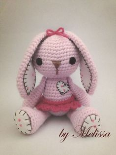 Mesmerizing Crochet an Amigurumi Rabbit Ideas. Lovely Crochet an Amigurumi Rabbit Ideas. Easter Crochet, Crochet Bunny, Love Crochet, Crochet Animals, Crochet Crafts, Crochet Projects, Knit Crochet, Crochet Amigurumi, Amigurumi Patterns