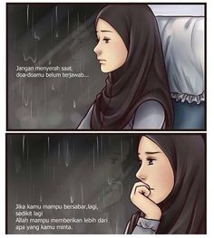 Sabar allah memberi yang lebih baik Allah Quotes, Muslim Quotes, Hijab Quotes, Sabar Quotes, Book Quotes, Life Quotes, Islamic Cartoon, Anime Muslim, Islamic Quotes Wallpaper