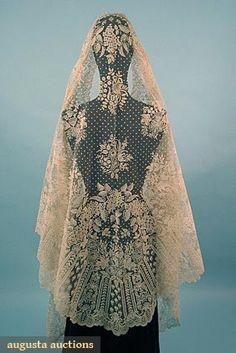 BRUSSELS LACE WEDDING VEIL, 1850