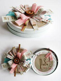 Mini Album Gift Idea - album in a tin